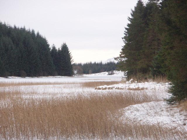 Frozen Loch Howie