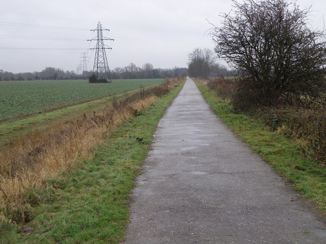 Cycle path near Willington