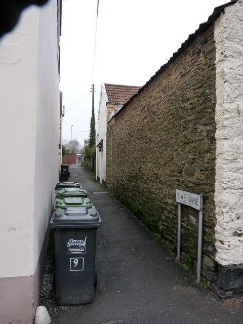 Bias Lane viewed from East Street