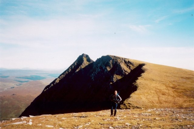 Approaching the summit of Seana Bhraigh