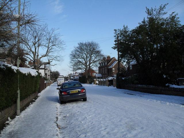 A snowy Fourth Avenue