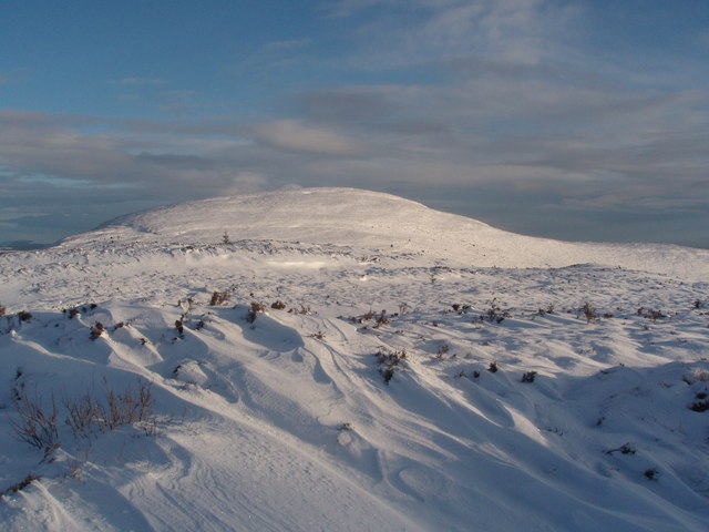 Cairnsmore or Black Craig of Dee from the summit of Benniguinea