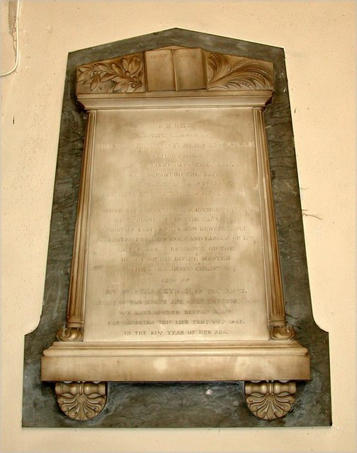 All Saints, Carshalton - Wall monument
