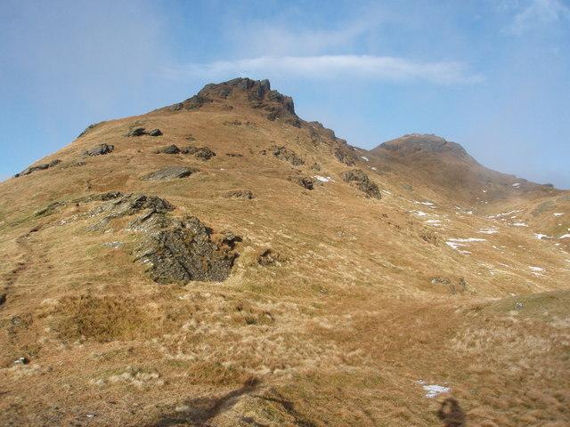 Southerly approach to Beinn an Lochain