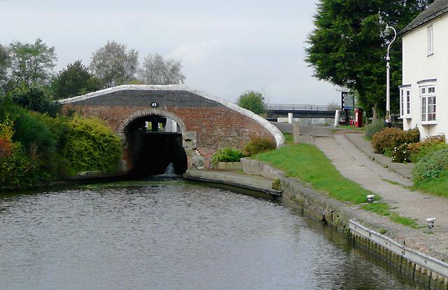Bridge No 49 by Bagnall Lock, Alrewas, Staffordshire