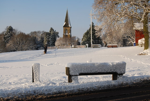 A snowy Southborough Common
