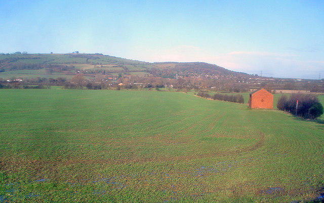Arable land south of Bredon Hill