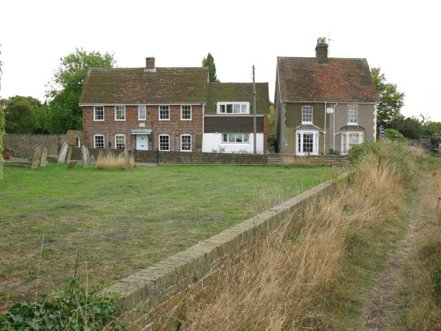 Houses along Church Path, Lower Halstow