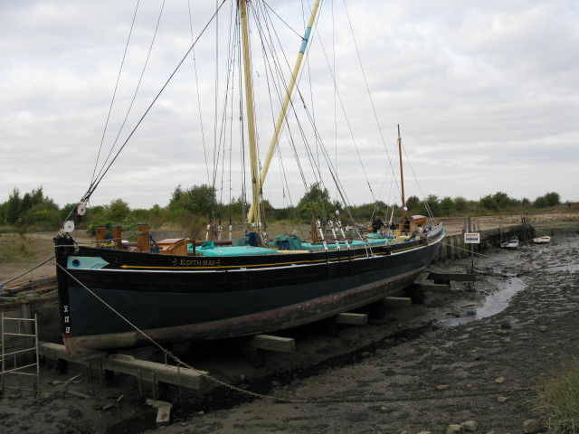 The Edith May at the southern end of Halstow Creek
