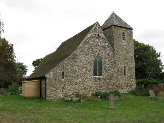 The western end of St Margaret of Antioch church