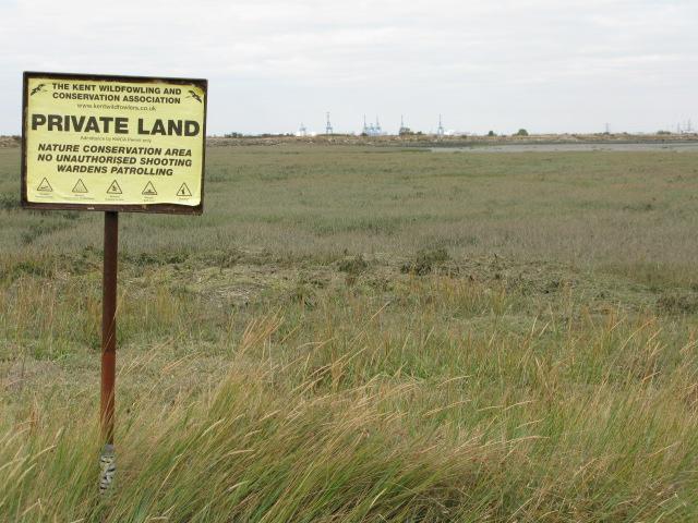 Private land at Funton Creek