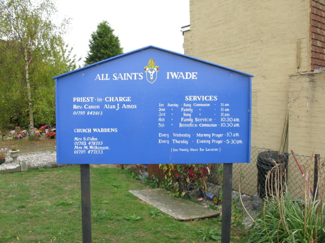 Notice board for All Saints, Iwade