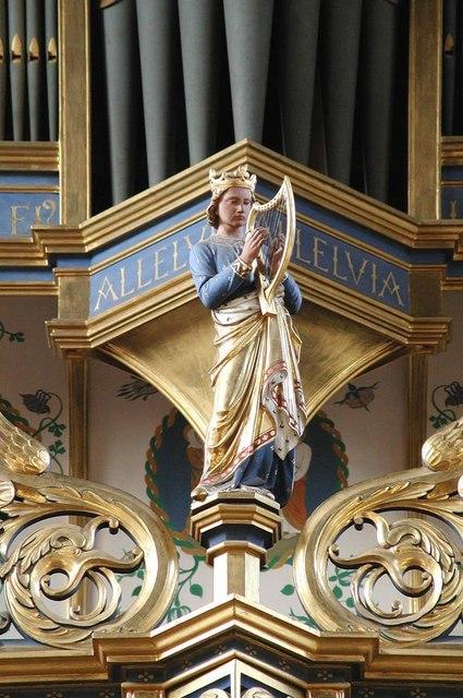 All Saints, Carshalton - Gallery statue