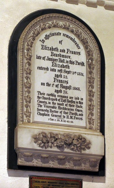 St Michael, Mickleham, Surrey - Wall monument