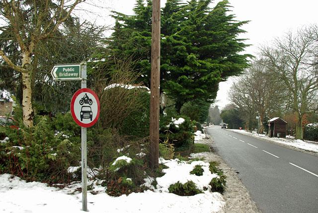 End of bridleway on Crawley Down Road