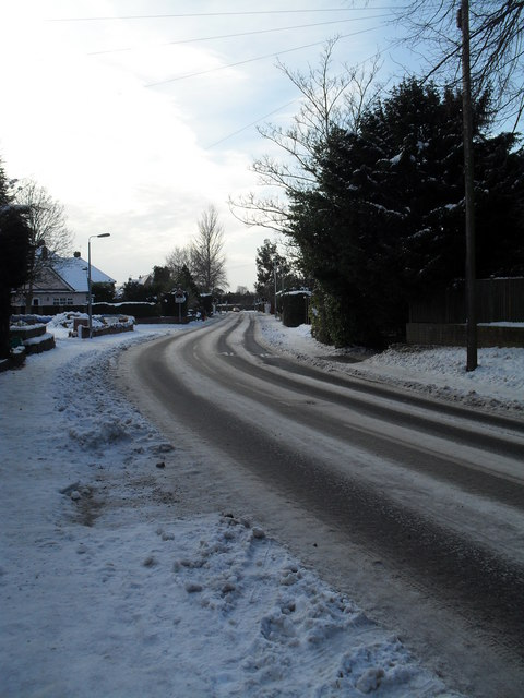 Treacherous conditions in Southleigh Road