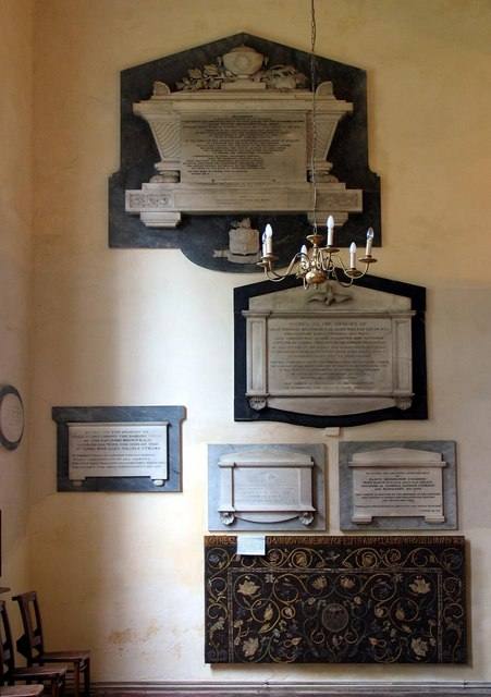 St George, Esher, Surrey - Wall monuments