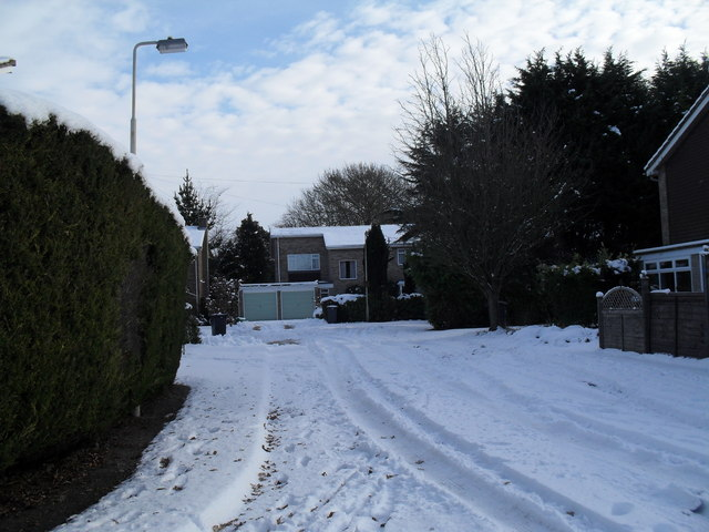A snowy spur in Southleigh Road
