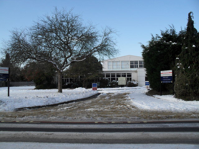 A snowy entrance at Warblington School in Southleigh Road