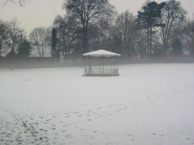 Bandstand in Cae Glas Park