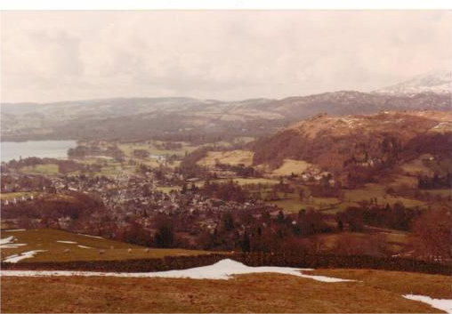 Ambleside from the Snarker Pike ridge