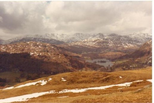 Rydal Water from the Snarker Pike ridge