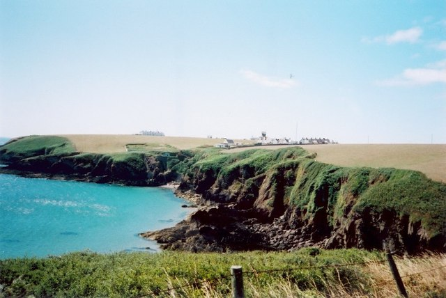South across Mill Bay to the lighthouse on St Ann's Head