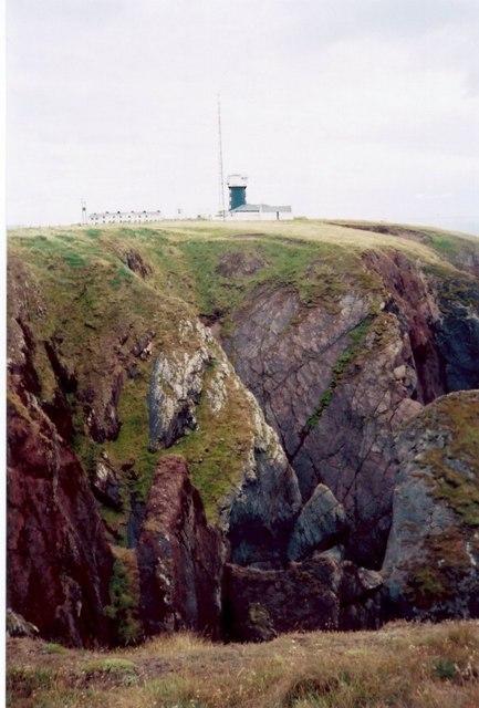 Cliffs and the lighthouse on St Ann's Head