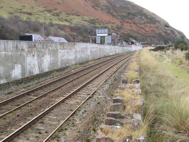 Penmaenbach railway tracks
