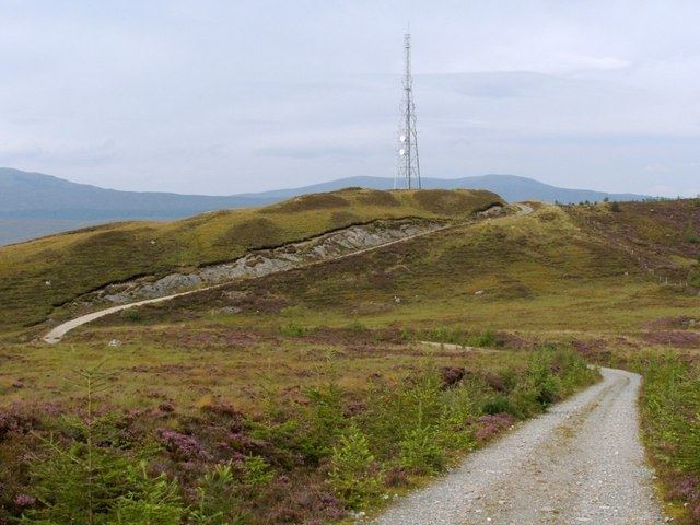 Track to Cow Hill mast