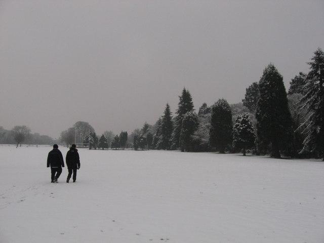 Tredegar Park snow
