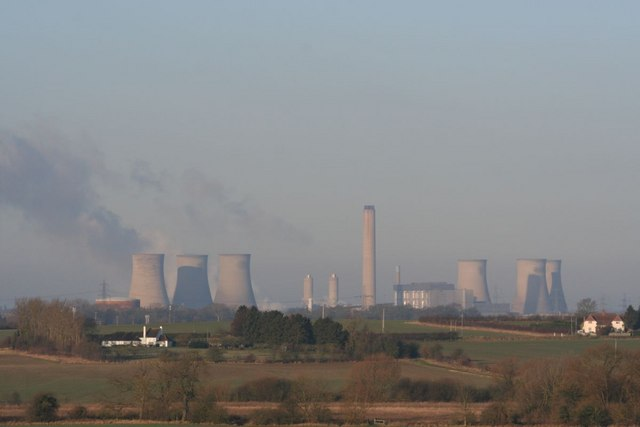 Power station in the haze