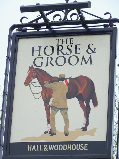 Sign for the Horse and Groom