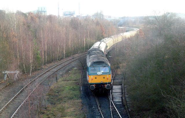 Charter train at Harworth mine