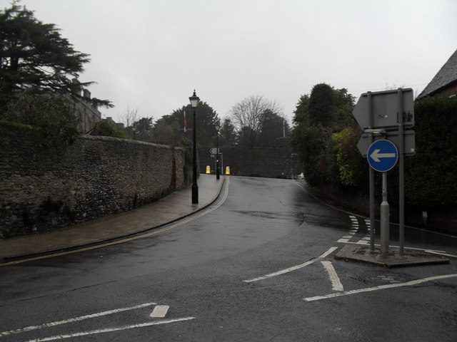 Looking from Maltravers Street towards High Street