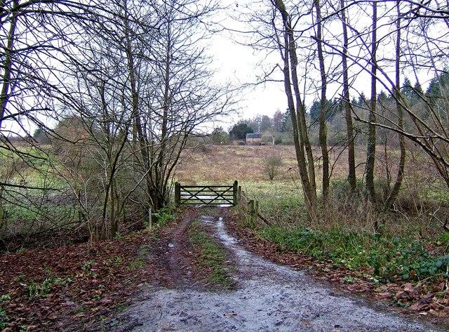 Private access road to farm