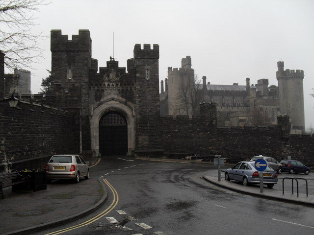 Arundel Castle on a bleak afternoon in late December