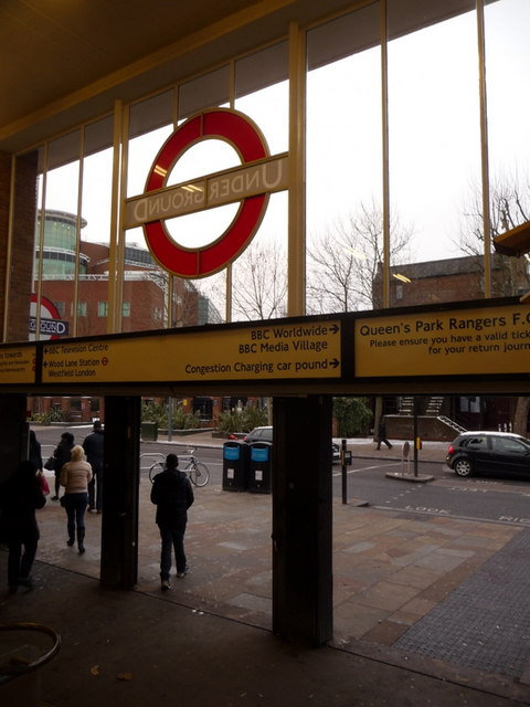 White City: exiting from the station