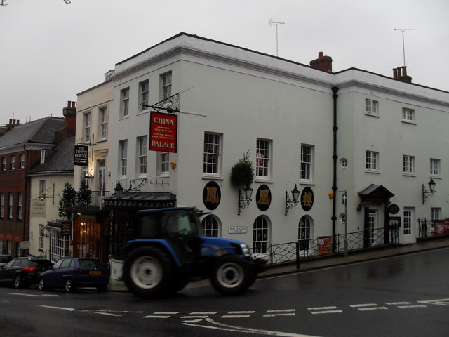 Tractor turning from the High Street into Mlatravers Street