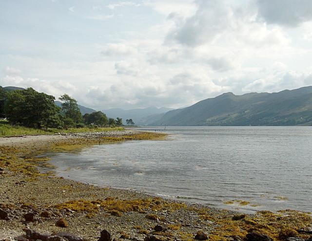 Leckmelm shoreline