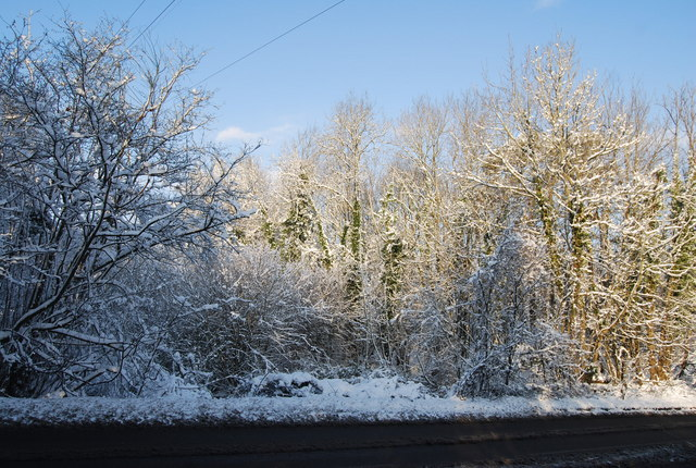 Wintery scene by the A26
