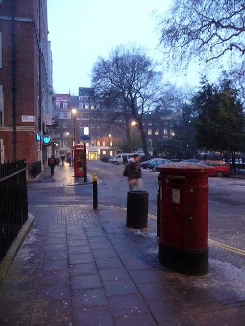 London: postbox № WC2 98, Soho Square