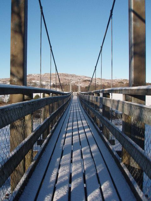 Boatwiel Bridge over the River Ken