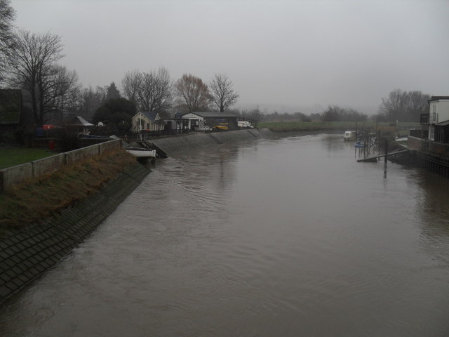 The River Arun on a murky December afternoon