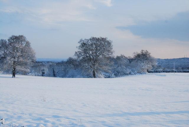 Mabledon Farm Car Boot site under snow