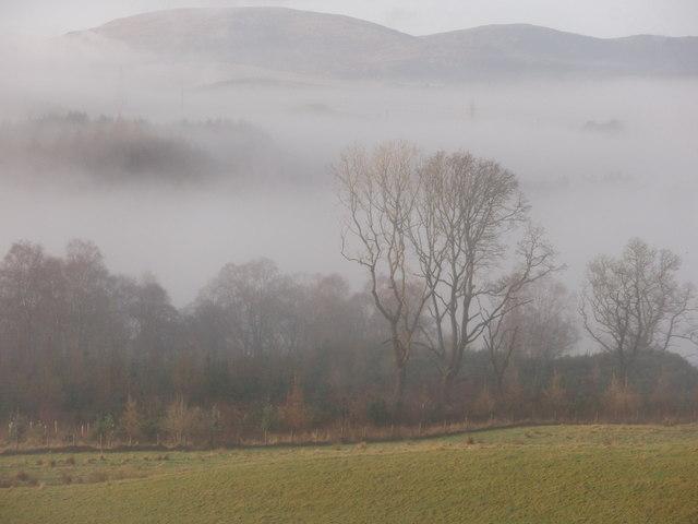 Morning mist over Earlstoun Loch