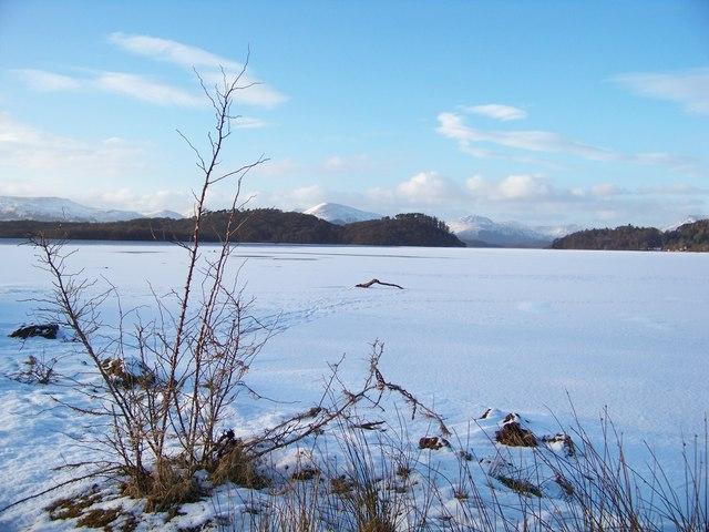 Frozen Loch Lomond