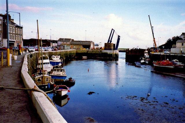 Douglas - View of the quay towards Parade St  bridge