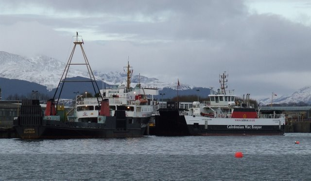 Ferries at Gourock Pier