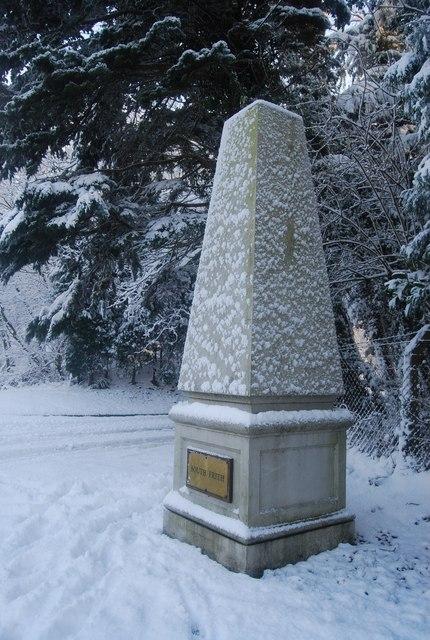 Obelisk outside North Frith